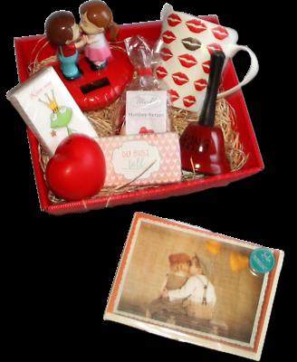 Valentinstag Geschenk Kus Präsentkorb Valentinstaggeschenk Liebe Love Geschenke
