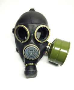 Russian Soviet Army Gas Mask - Rubber - Brand new in box.