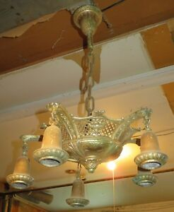 Luminaire antique en laiton
