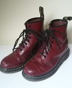 DM/Doc Marten/Dr Marten Boots - Cherry Red, 8-hole, US L 8