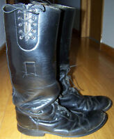 Police Leather Motorcycle Boots