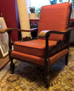 Vintage Oak Morris Recliner Chair Late 19th - Early 20th century