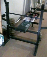 Weights, Bench and Bar-Price Reduced