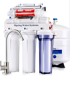 iSpring RCC7AK-UV Deluxe Under Sink 7-Stage Reverse Osmosis Drin