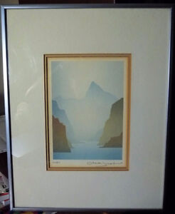 "Mountain Silhouettes by Peter, Traudl Markgraf ""Inlet"" Signed Stratford Kitchener Area image 1"