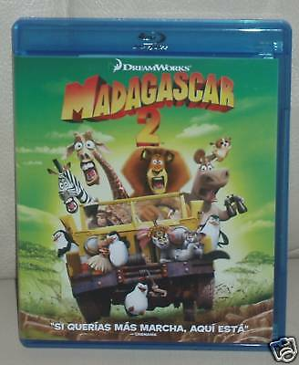 MADAGASCAR 2-BLU-RAY-NUEVO-NEW-DREAMWORKS-COMEDIA-AVENTURAS-FAMILIAR-ANIMACION