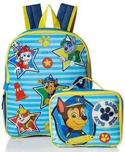New With Tags-Paw Patrol Backpack & Lunch Kit Set