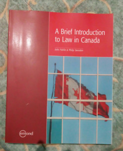 A Brief Introduction to Law in Canada