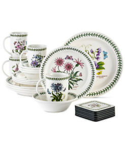 Portmeirion Botanic Garden 22 Piece Set dishes for 4, TWO SETS