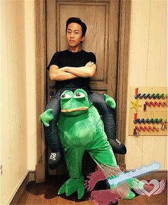 New Halloween Sad Frog Ride On Animal Mascot Novelty Costumes Unisex Fancy Dress](Sadness Costume Halloween)