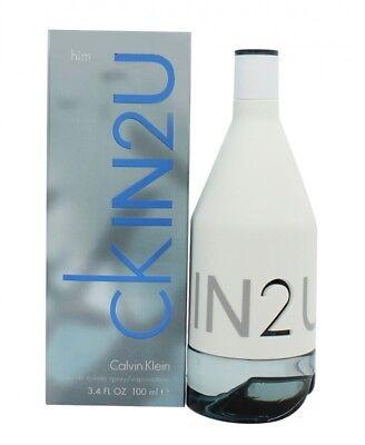 Calvin Klein In2u Eau De Toilette 100ml Spray - Men's For Him. New