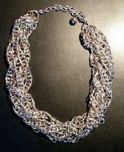 "Vintage ""Silver"" Multi-Chain Necklace - Gorgeous!"