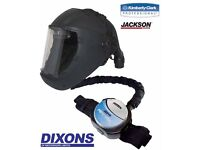Jackson air fed mask + 1 other mask free