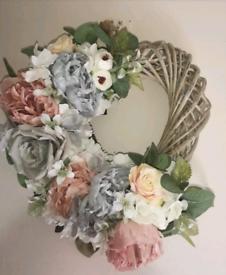 Artificial flower door wreaths or home decor
