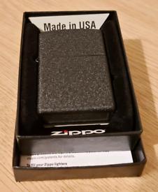 Zippo Black Crackle windproof lighter