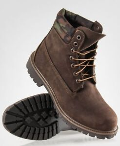 New Special Edition Men's TIMBERLAND Brown/Camo Boots Size 11