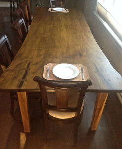 """112"""" l x 40 - 47"""" wide w Mahogany base - by appointment"""