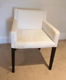 Ikea white armchsir/desk chair