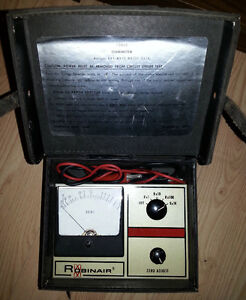 Vintage ROBINAIR OHM METER 12855 Leather Case