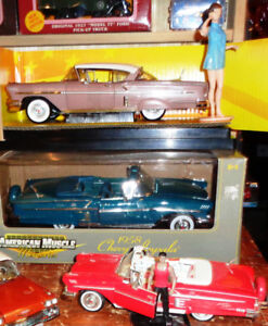 3 Diecast  American Muscle Ertl 1958 Chevrolet Impala's