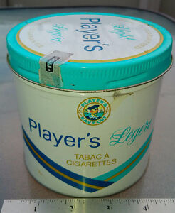 PLAYERS LIGHT NAVY CUT Cigarette ROUND TOBACCO TIN Imperial
