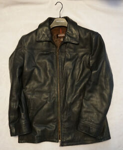 Like New - Size Large - Mens Leather Jacket with Liner
