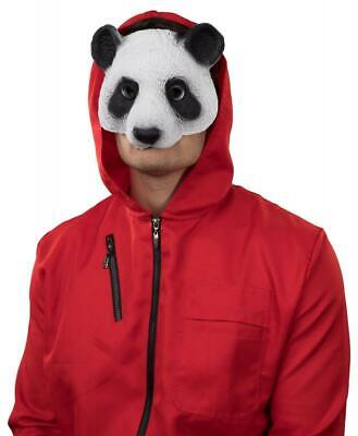Maske Panda Kostüm Overall Kleid Phantom Gelddieb Haus des Geldes Bankräuber