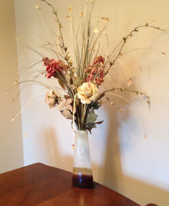 Vase with flowers, $30