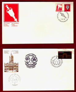 CANADIAN FIRST DAY COVERS FDC COLLECTION 1978-1985
