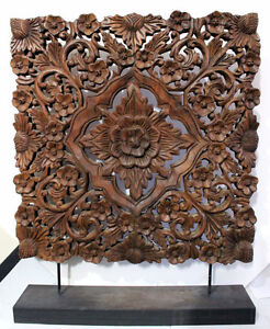 Mahogany Thai Carving with Stand
