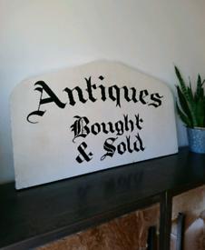 Vintage original antique double sided shop sign