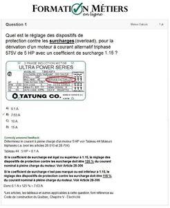 Examen Électricien CCQ, hors-construction et Sceau Rouge Québec City Québec image 2