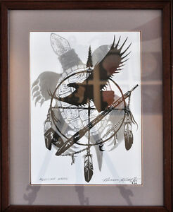 Norman Knott original ink - Medicine Wheel