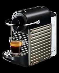 New Nespresso Pixie titanium capsules espresso coffee machine