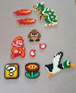Super Mario Perler Bead Collection