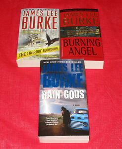 3x James Lee Burke paperback novels