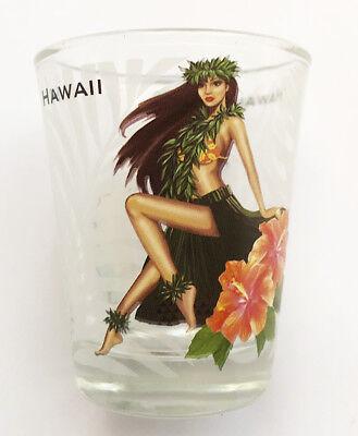 Hawaiian Islands Hula Girl Shot Glasses Hawaii Souvenir Tiki Bar Drink Gifts NIB](Shooter Glasses)
