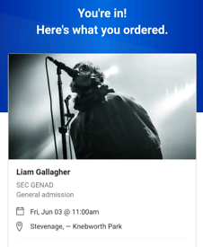 X4 Liam Gallagher Tickets for sale!