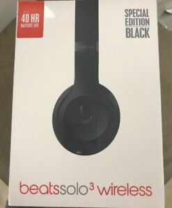 nBeats Solo3 Wireless On-Ear Headphones, Matte Black (MP582LL/A)