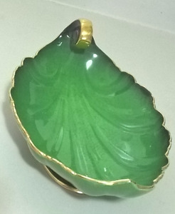Vintage Carlton Ware Vert Royale Green Leaf Shaped Bowl
