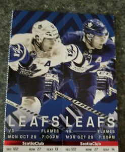Toronto Maple leafs tickets vs Calgary flames Mon Oct 29