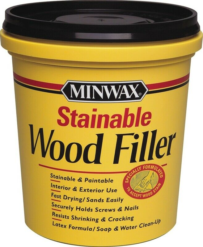 Minwax 42853000 Stainable & Paintable Wood Filler, 16 Oz