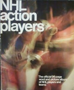 1974-75 Loblaws NHL ACTION PLAYERS Album with all stickers