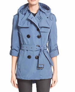 BRAND NEW - Women's Burberry Brit Belted Hooded Trench Coat