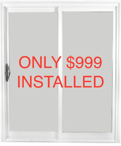 5' WIDE VINYL SLIDING PATIO DOOR FOR $999 INSTALLED