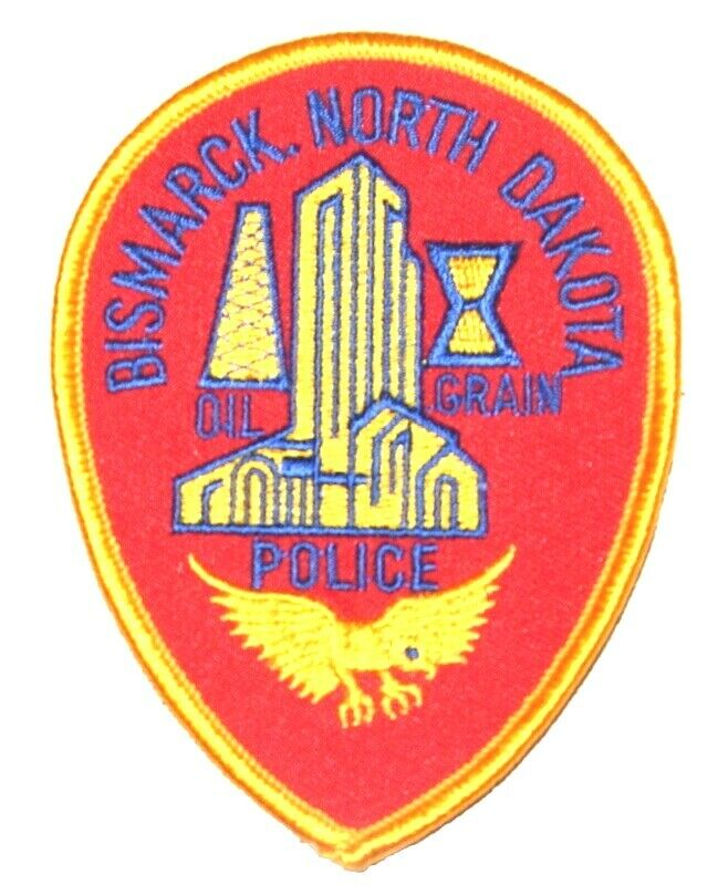 "BISMARCK NORTH DAKOTA ND Sheriff Police Patch CAPITAL CITY CAPITOL DOME OIL 4"" ~"