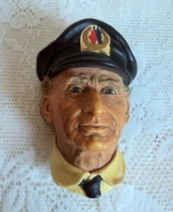 Bossons Head Norman Rockwell SEA CAPTAIN Retired 1972 Chalkware