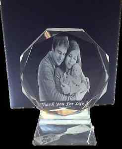 Gravure photo 3D laser cristal | 3D laser engraving in Crystal