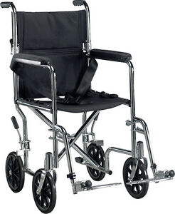 perfect condition 18inch transportation wheelchair.