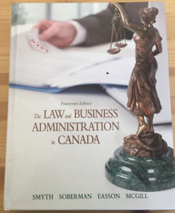 The Law and Business Administration in Canada (14th Edition)book